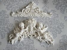 LARGE FRENCH CHIC COUNTRY CHERUB/   FLOWERS /WITH DECORATIVE FINISHIN MOULDING
