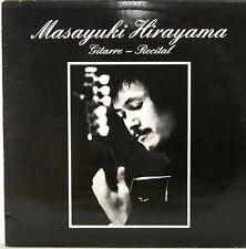 "MASAYUKI HIRAYAMA - GITARRE RECITAL PONCE TARREGA SOR PUJOL BARRIOS 12"" LP c374"