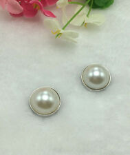 2pcs Pearl Snaps Chunk Charm Button Fit For  Leather Bracelets DIY HOT