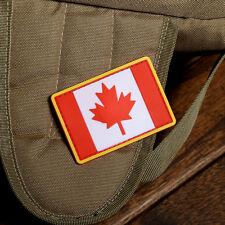 3D PVC CANADA FLAG RUBBER CANADIAN TACTICAL  ARMY MORALE Full Color PATCH