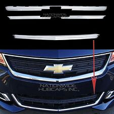 2014-2016 IMPALA LS CHROME Snap On Grille Overlay Front Grill Bar Covers Inserts