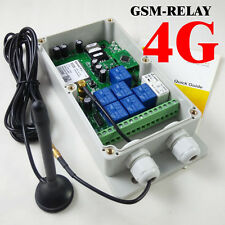 4G GSM Remote Control Relay - 7 Relays - USA/Mexico/Canada - DC Powered
