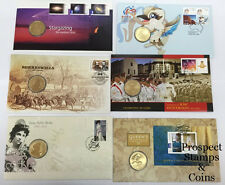 Six (6) - Perth Mint/Australian Post - One dollar Stamp and Coin Cover PNC's