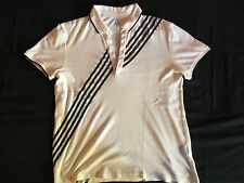 Designer AX Armani Exchange Mens White Muscle Fit Collared Polo L Good CONDITION