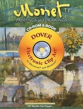 Monet Paintings and Drawings Dover CD-ROM and Book Permission free clip art