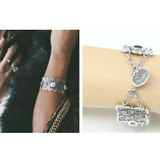 Charm Bohemian Engraved Coin Gypsy Tribal Ethnic Bracelet Bangle Jewelry Gift