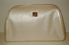 5 Lancome Signature Cosmetic Bag Faux Leather in Chmpange Metallic NEW Lot of 5