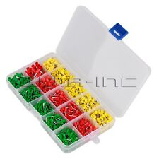 990pcs Crimp Insulated Terminal End Kit Box Wire Cable Ferrule Pin Connector