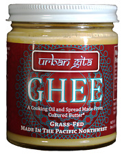 Urban Gita Ghee 9 oz, from cultured organic butter of PNW grass fed cows