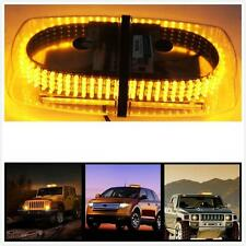White & Amber 240 LED Light Bar Roof Top Emergency Hazard Warning Flash Strobe