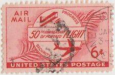 (UST-107) 1953 USA 6c red anniversary of aviation air mail (C)