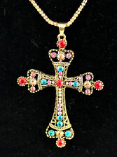 New Fashion Bronze cross necklace Christmas gift k85