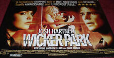 Cinema Poster: WICKER PARK 2004 (Quad) Josh Hartnett Matthew Lillard