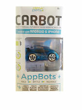 Brookstone Desk Pets AppBot CarBot Race Battle Rechargeable Android iPhone Blue