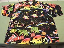 PLANET HOLLYWOOD VINTAGE 1990 BUTTON HAWAIIAN SHIRT SIZE L