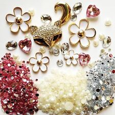 DIY 3D Bling Cell Phone Case Deco Kit: Rhinestone Fox and Daisies Cabochons