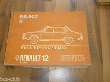 RENAULT 12 R12 1975 original ERSATZTEIL KATALOG ETK 6.Auflage WERKSTATT HANDBUCH