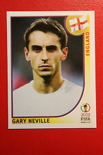 PANINI KOREA JAPAN 2002 # 426 ENGLAND NEVILLE WITH BLACK BACK MINT!!!