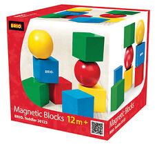 BRIO 30123 Magnetic Blocks - Toddler Building Sets Age 1-2 Years