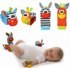 4pcs/set Baby Infant Toy Wrist Rattles Foots finders Socks Developmental Gift