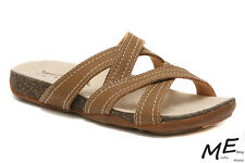 New Timberland Barestep Slides Leather Women Sandals Size 8W (MSRP $120) 3861R