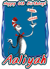 Cat in the Hat Birthday Party t Shirt Iron On Transfer Personalized Applique