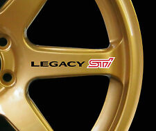 Subaru Legacy WRX STI 8 x logo decal graphics stickers for alloy wheels black