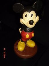 """Vintage 10"""" Mickey Mouse Statue - Wood Simulated High Quality Walt Disney World"""