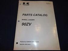 KAWASAKI 90ZV WHEEL LOADER PARTS CATALOG BOOK MANUAL S/N 90C4-5001-UP
