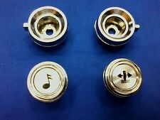 73-91 CHEVY-GMC TRUCK SUBURBAN BLAZER JIMMY CHROME RADIO KNOBS #832