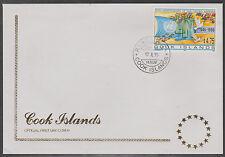 v1809 Cook-Inseln/  50 Jahre UNO-Flaggen  MiNr 1437 auf FDC