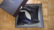"GUCCI LEATHER BOOTS ""Chelsea"" n° 41 Nero (Shoes, Stiefel, Bottes, Stivali)"
