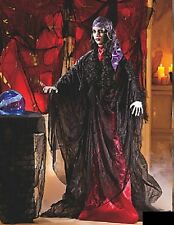 """Standing Gypsy Ghost Woman w/ Flashing Lighted Eyes Halloween Prop 5-Ft, 10""""Tall"""