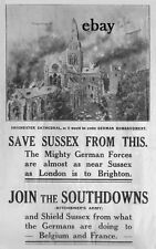 NEW A4 PRINT BRITISH ARMY SUSSEX REGIMENT KITCHENER'S ARMY THE SOUTHDOWNS