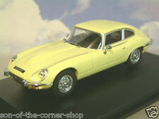 OXFORD 1/43 1971-1975 JAGUAR V12 E-TYPE SERIES 3 COUPE PRIMROSE YELLOW JAGV12002