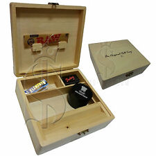 Wolf Productions T3 Pine Large Rolling Tray Box - WT13 Wooden Roll Tray