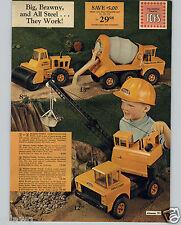 1971 PAPER AD Tonka Toy Truck Roller Ready Concrete Mixer Crane Hercules Trucks