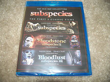 SUBSPECIES 1-3 First 3 Classic Films BLU-RAY COLLECTION New Sealed Full Moon