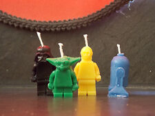 Starwars R2D2.Yoda,C3PO and Darth Vader birthday candle/cake topper handemade