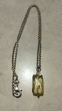 """Vintage sterling Peridot Necklace 18"""" Necklace"""