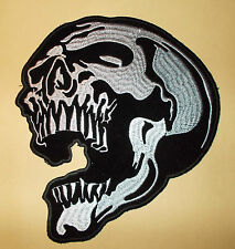 Patch Aufnäher Skull Totenkopf - 19 x 18 cm ! Super Optik !