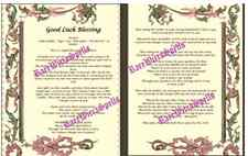Good Luck Blessing 2pgs Parchment / Poster Wicca Book of Shadows Spell Ritual