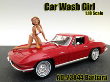 CAR WASH GIRL BARBARA FIGURE FOR 1:18 SCALE MODELS BY AMERICAN DIORAMA 23844
