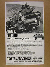1964 Toyota Land Cruiser landcruiser & tank photo vintage print Ad