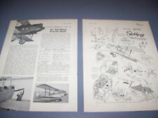 VINTAGE..DE HAVILLAND D.H.60 MOTH..5-VIEWS/DETAIL PROFILES/PHOTO..RARE! (693E)