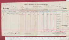 9165 Memphis, M0 1882 real estate tax receipt for Rebecca Yeager, J. P. Nesbit