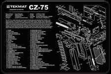 BRNO CZ-75 9MM PISTOL GUN CLEANING ARMOURY GUNSMITH BENCH LAP TOP MAT NEW TEKMAT