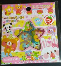 Mogo Logo Friends Sweets Sticker Sack Flakes seals Kawaii Kamio Japan RARE