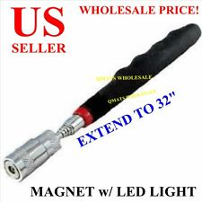 MAGNET WITH LED LIGHT PICK UP TOOL STRONG MAGNETIC EXTENDABLE 32""