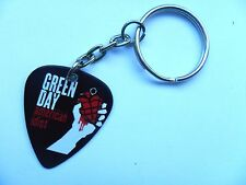 GREEN DAY Double Sided Guitar Pick // Plectrum Silver Keyring